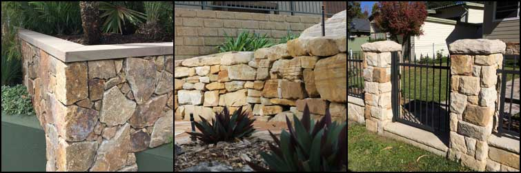Sandstone Block Retaining Walls