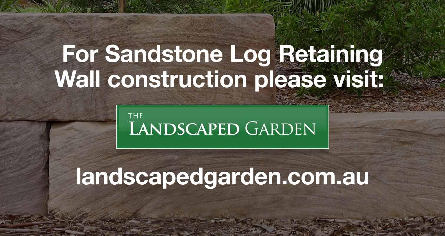 Sandstone Log Landscaped Garden
